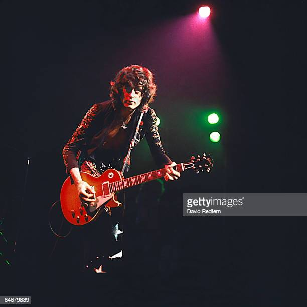 GARDEN Photo of Jimmy PAGE and LED ZEPPELIN Jimmy Page performing live onstage during filming for 'The Song Remains The Same' playing Gibson Les Paul...