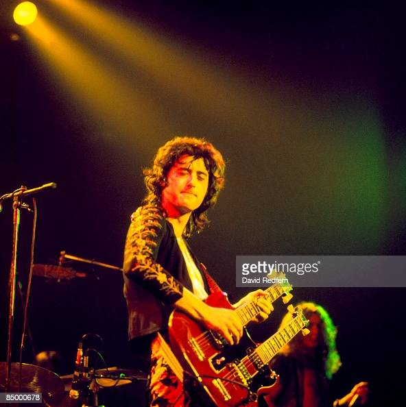 GARDEN Photo of LED ZEPPELIN and Jimmy PAGE with Led Zeppelin performing live onstage playing Gibson EDS1275 twinneck/doubleneck guitar during...