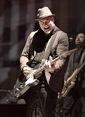 Guitarist Jimmy Stafford of Train performs at the Downtown Las Vegas Events Center on November 7 2015 in Las Vegas Nevada