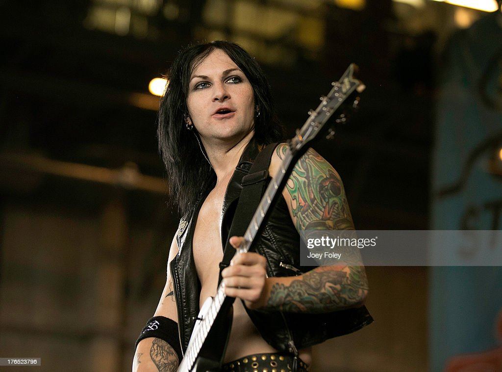 Guitarist Jinxx of Black Veil Brides performs onstage during the 2013 Van Warped Tour at Riverbend Music Center on July 30, 2013 in Cincinnati, Ohio.