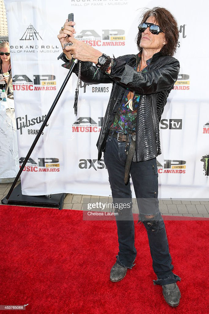 Guitarist Joe Perry of Aerosmith attends the 2014 Gibson Brands AP Music Awards at the Rock and Roll Hall of Fame and Museum on July 21, 2014 in Cleveland, Ohio.