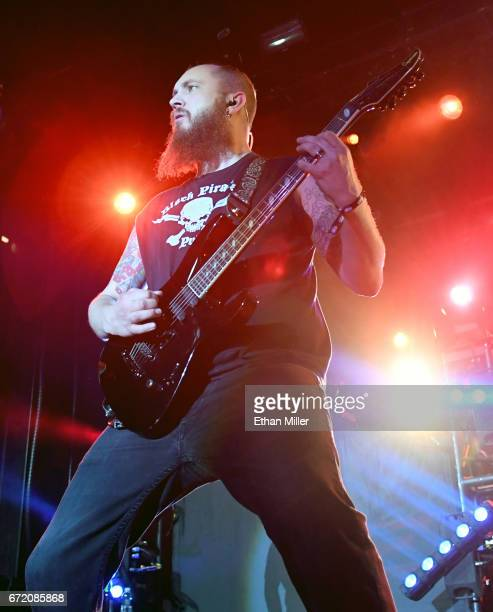 Guitarist Joel Stroetzel of Killswitch Engage performs during the Las Rageous music festival at the Downtown Las Vegas Events Center on April 21 2017...