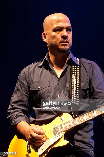 Guitarist Joey Santiago of the Pixies performs at the Hollywood Palladium on November 4 2009 in Hollywood California
