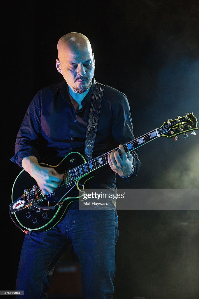 Guitarist <a gi-track='captionPersonalityLinkClicked' href=/galleries/search?phrase=Joey+Santiago&family=editorial&specificpeople=241220 ng-click='$event.stopPropagation()'>Joey Santiago</a> of the Pixies performs on stage at The Paramount Theater on February 18, 2014 in Seattle, Washington.