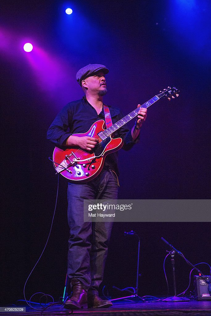 Guitarist <a gi-track='captionPersonalityLinkClicked' href=/galleries/search?phrase=Joey+Santiago&family=editorial&specificpeople=241220 ng-click='$event.stopPropagation()'>Joey Santiago</a> of the Pixies performs on stage during an EndSession hosted by 107.7 The End at the Triple Door Theater on February 19, 2014 in Seattle, Washington.