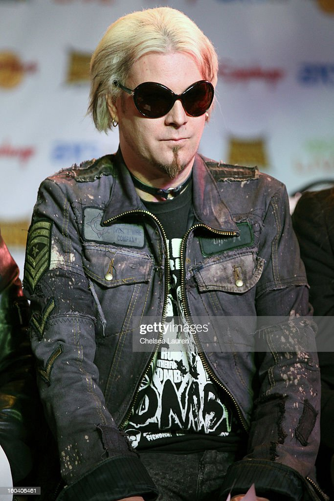 Guitarist John 5 of Rob Zombie attends the Revolver Golden Gods Awards press conference at Hard Rock Cafe - Hollywood on January 30, 2013 in Hollywood, California.