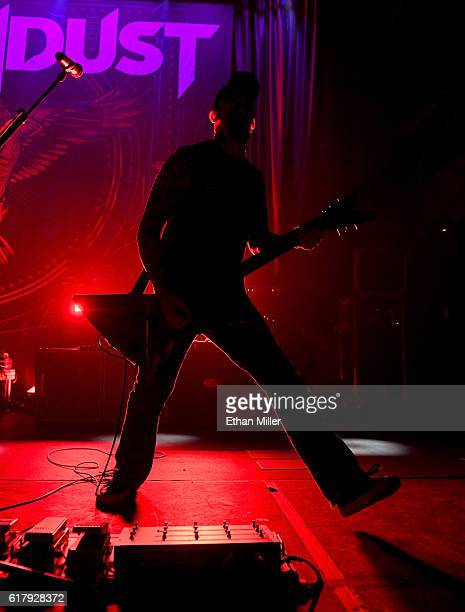 Guitarist John Connolly of Sevendust performs during a stop of the band's Kill the Flaw tour at Brooklyn Bowl Las Vegas at The Linq Promenade on...