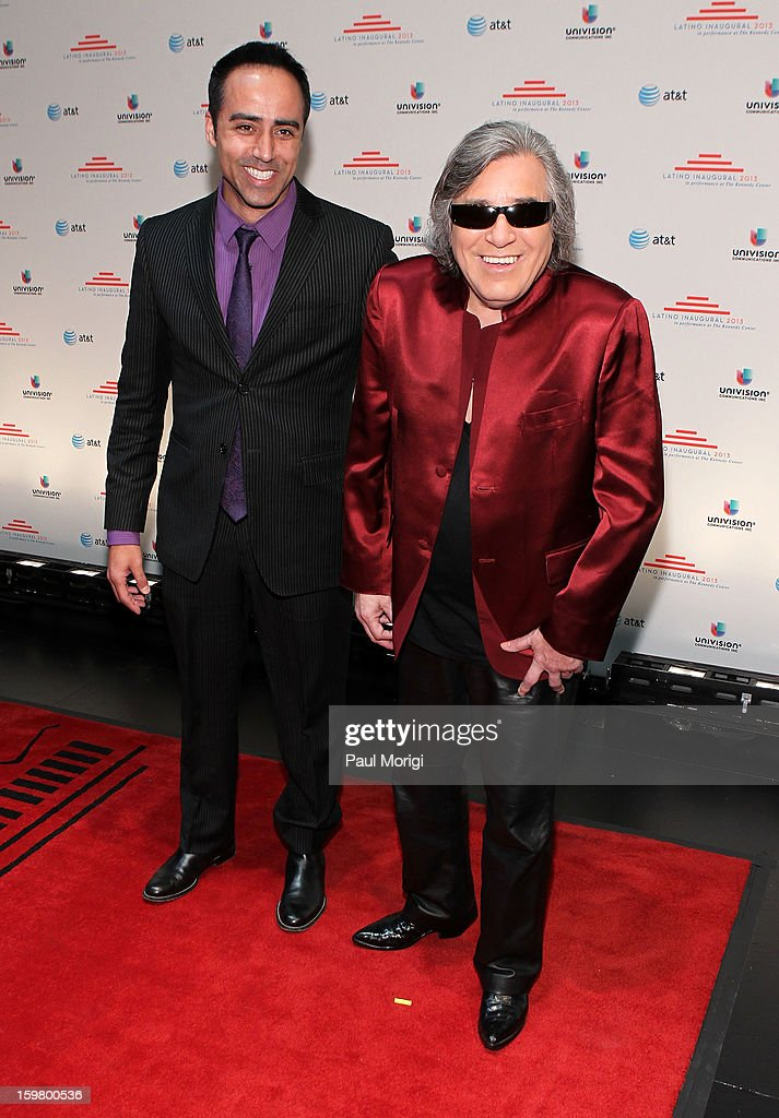Guitarist Jose Feliciano (R) attends the Latino Inaugural 2013 at The Kennedy Center on January 20, 2013 in Washington, DC.