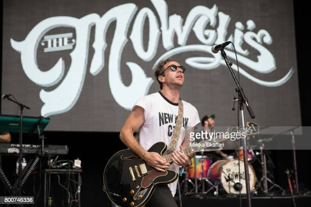 Guitarist Josh Hogan and drummer Andy Warren of The Mowgli's perform at ID10T festival at Shoreline Amphitheatre on June 24 2017 in Mountain View...