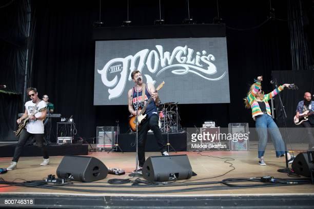 Guitarist Josh Hogan keyboardist Dave Appelbaum vocalist Colin Louis Dieden bassist Matthew Di Panni and vocalist Katie Jayne Earl of The Mowgli's...