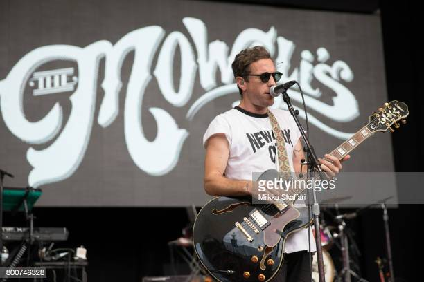 Guitarist Josh Hogan of The Mowgli's performs at ID10T festival at Shoreline Amphitheatre on June 24 2017 in Mountain View California