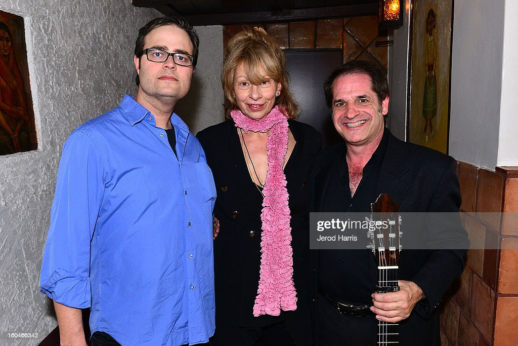 Guitarist Kai Narezo, director Katina Dunn and guitarist Antonio Triana II performs at 'Kumpania: Flamenco Los Angeles' - Los Angeles Premiere after party at El Cid on January 31, 2013 in Los Angeles, California.