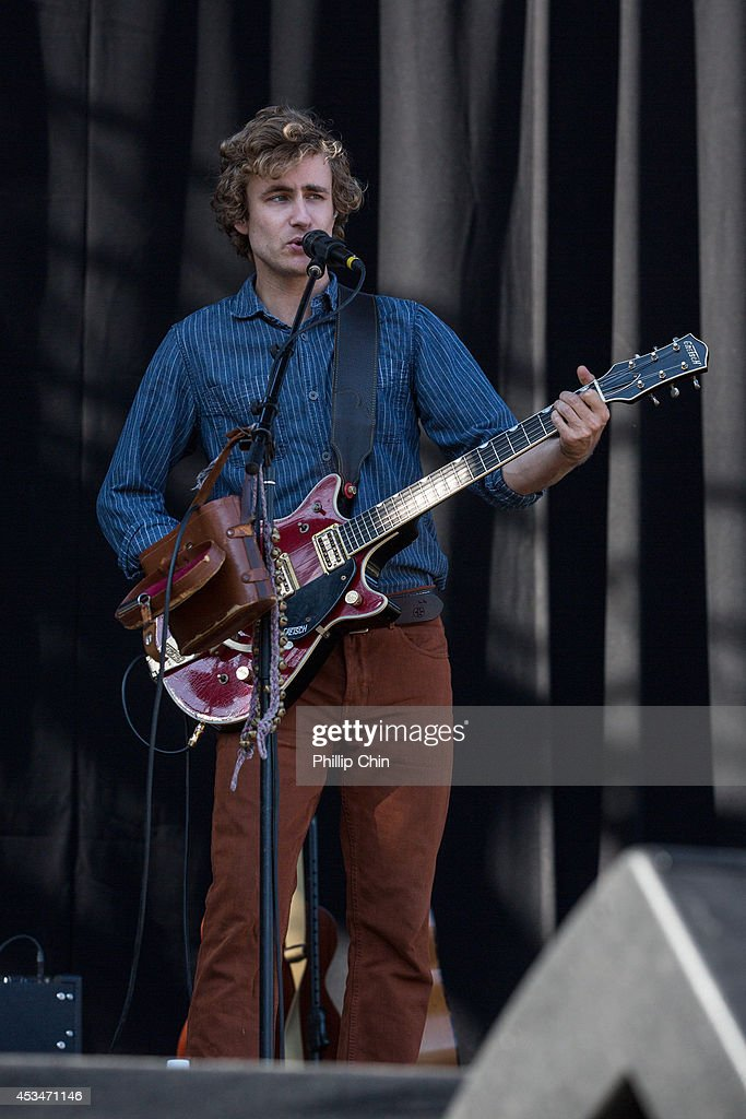 Guitarist Karl Kerfoot of Lord Huron performs at the Squamish Valley Music Festival on August 10, 2014 in Squamish, Canada.