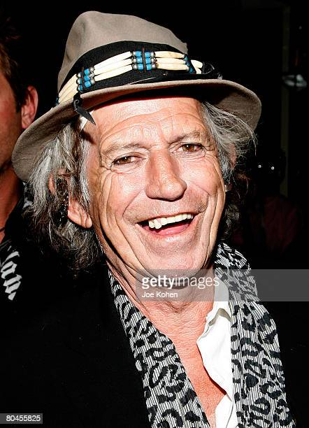 NEW YORK MARCH 30 Guitarist Keith Richards attends the Daily Variety Gotham's 10th Anniversary party on March 30 2008 in New York City