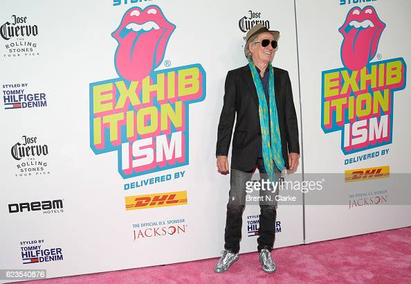 Guitarist Keith Richards attends The Rolling Stones Exhibitionism opening night held at Industria Superstudio on November 15 2016 in New York City