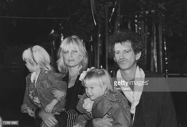 Guitarist Keith Richards of the Rolling Stones arives at the Big Apple Circus at the Lincoln Center's Damrosch Park with his wife Patti and their...