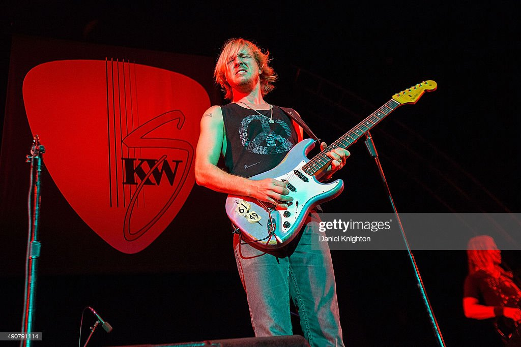 Guitarist Kenny Wayne Shepherd performs on stage in support of Van Halen at Sleep Train Amphitheatre on September 30, 2015 in Chula Vista, California.
