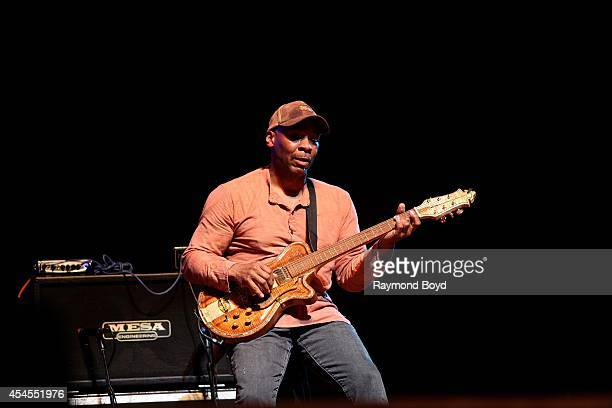 Guitarist Kevin Eubanks performs during the 36th Annual Chicago Jazz Festival at Millennium Park on August 30 2014 in Chicago Illinois
