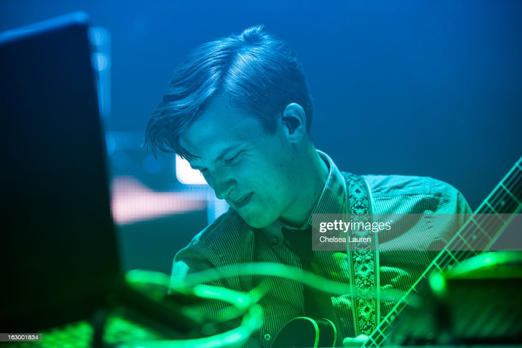 Guitarist / keyboardist Hunter Brown of Sound Tribe Sector 9 performs at Hollywood Palladium on March 2, 2013 in Hollywood, California.