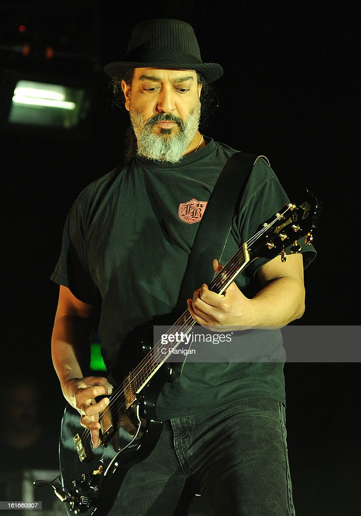 Guitarist Kim Thayil of Soundgarden performs at The Fox Theatre on February 13, 2013 in Oakland, California.
