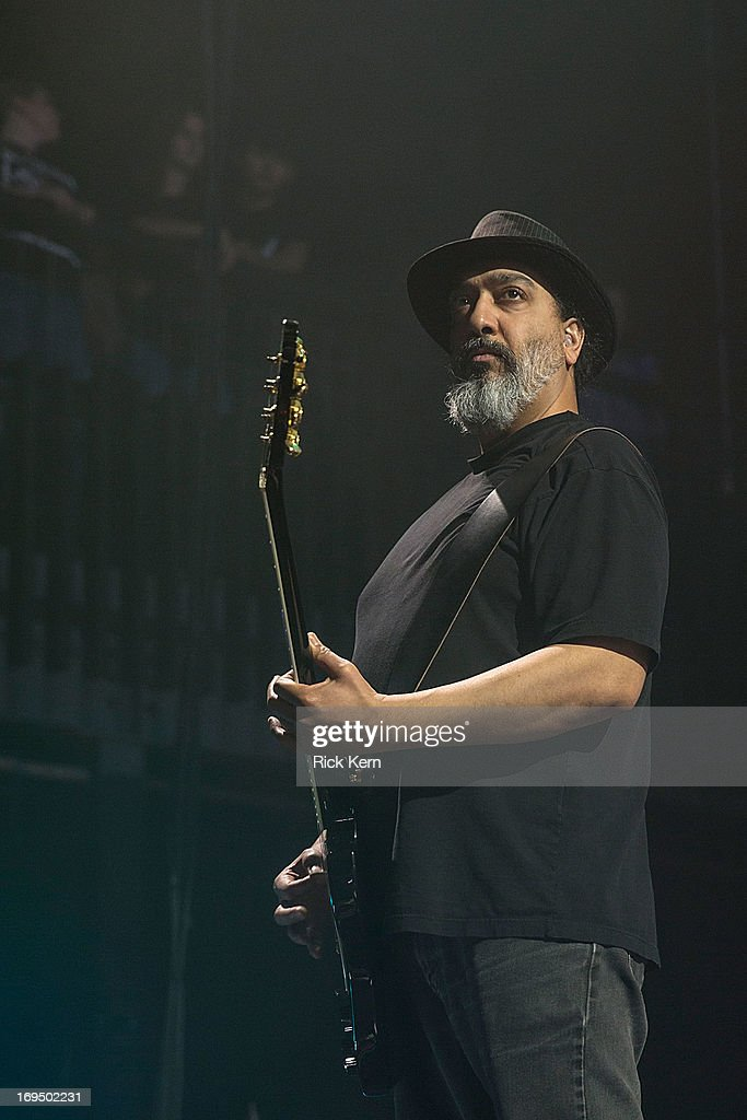 Guitarist Kim Thayil of Soundgarden performs in concert at Austin Music Hall on May 25, 2013 in Austin, Texas.