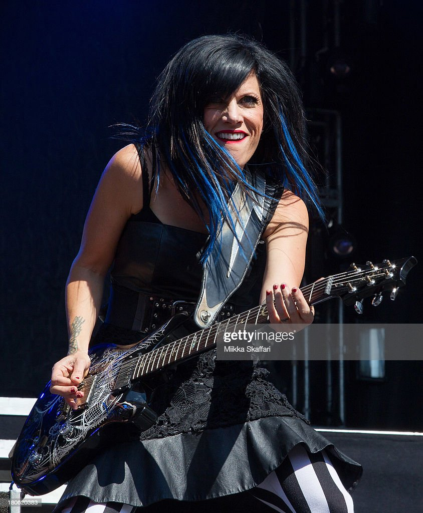 Guitarist Korey Cooper of Skillet performs in Monster Energy's Aftershock Festival at Discovery Park on September 14 2013 in Sacramento California