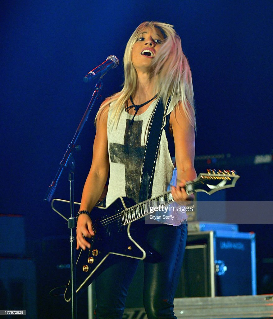 Guitarist Laura Wilde performs at the Vegas Rocks! Magazine Music Awards 2013 at the Joint inside the Hard Rock Hotel & Casino on August 25, 2013 in Las Vegas, Nevada.