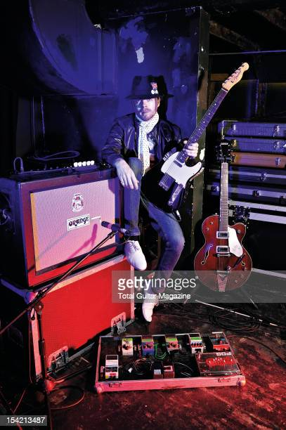 Guitarist Luke Crowther of English indie rock group The Rifles at the Bristol Thekla on October 28 2008