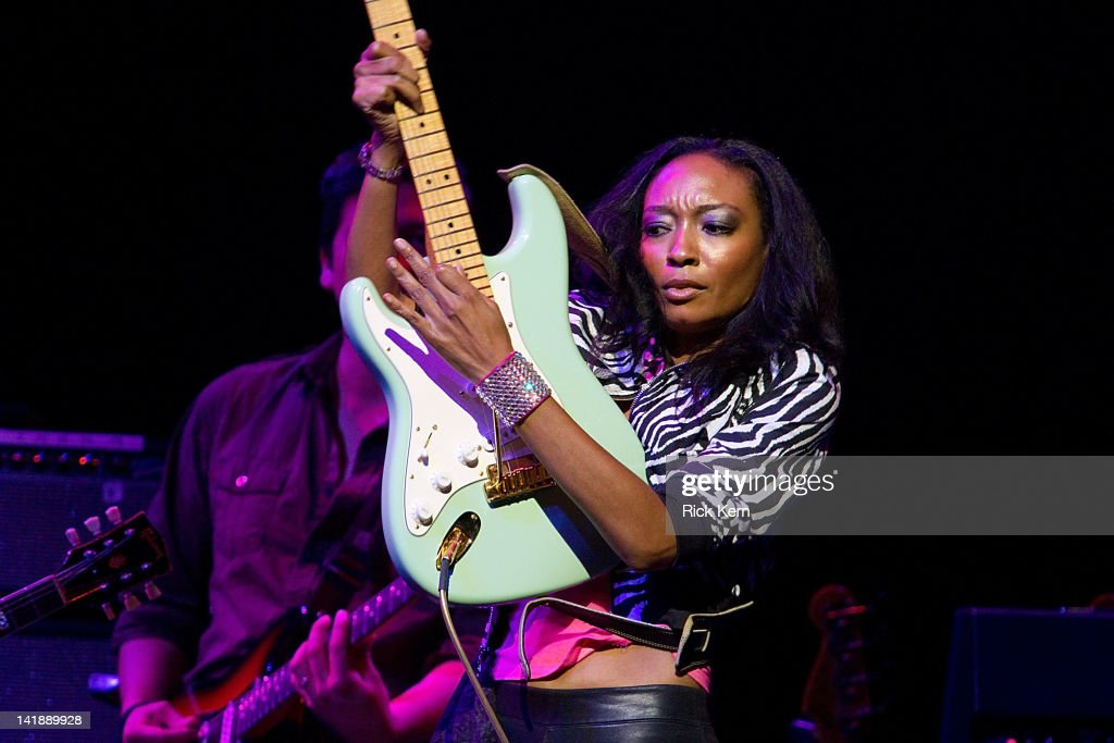 Guitarist <a gi-track='captionPersonalityLinkClicked' href=/galleries/search?phrase=Malina+Moye&family=editorial&specificpeople=797314 ng-click='$event.stopPropagation()'>Malina Moye</a> performs as part of the Experience Hendrix Tribute at ACL Live on March 24, 2012 in Austin, Texas.
