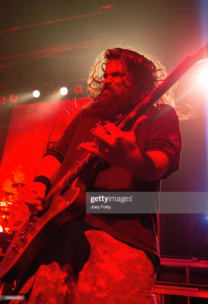 Guitarist Mark Morton of Lamb of God performs at The Egyptian Room at Old National Centre on November 6, 2012 in Indianapolis, Indiana.