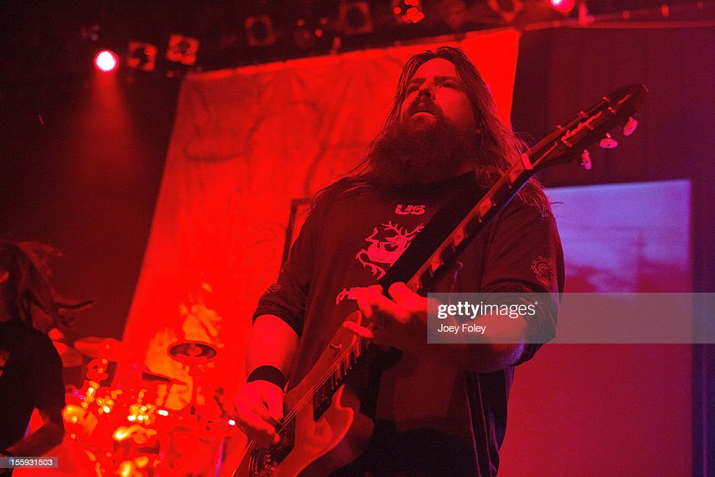 Guitarist Mark Morton of Lamb of God performs at The Egyptian Room at Old National Centre on November 8, 2012 in Indianapolis, Indiana.