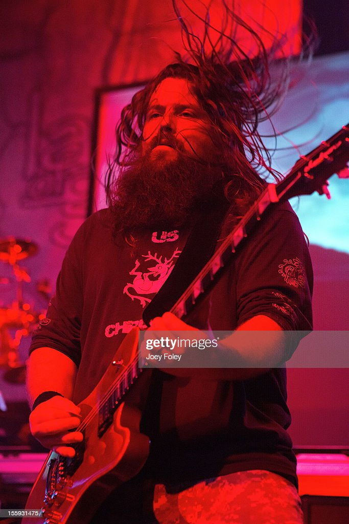 Guitarist Mark Morton of Lamb of God performs at The Emerson Theater on November 6, 2012 in Indianapolis, Indiana.