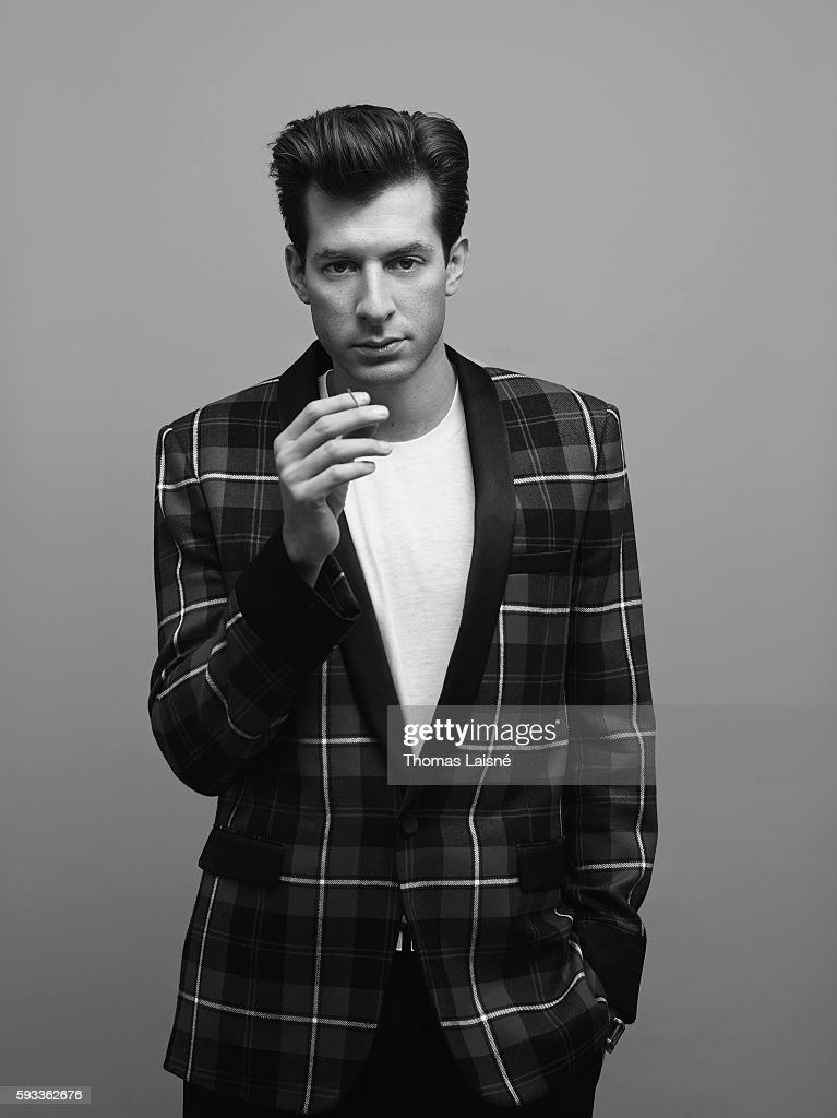 Guitarist Mark Ronson is photographed for Self Assignment on December 19, 2014 in Paris, France.