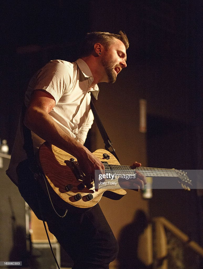 Guitarist Matt Kennedy of The Dangerous Summer performs at The Irving Theater on March 10, 2013 in Indianapolis, Indiana.