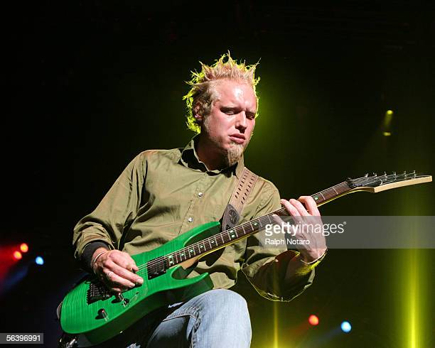 Guitarist Matt Roberts of the band 3 Doors Down performs at the Sound Advice Amphitheatre on December 8 2005 in Palm Beach Florida