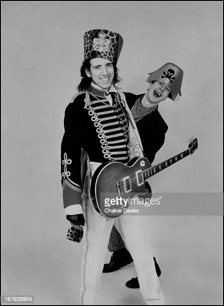 Guitarist Mick Jones and singerJoe Strummer of English punk rock group The Clash London 1979