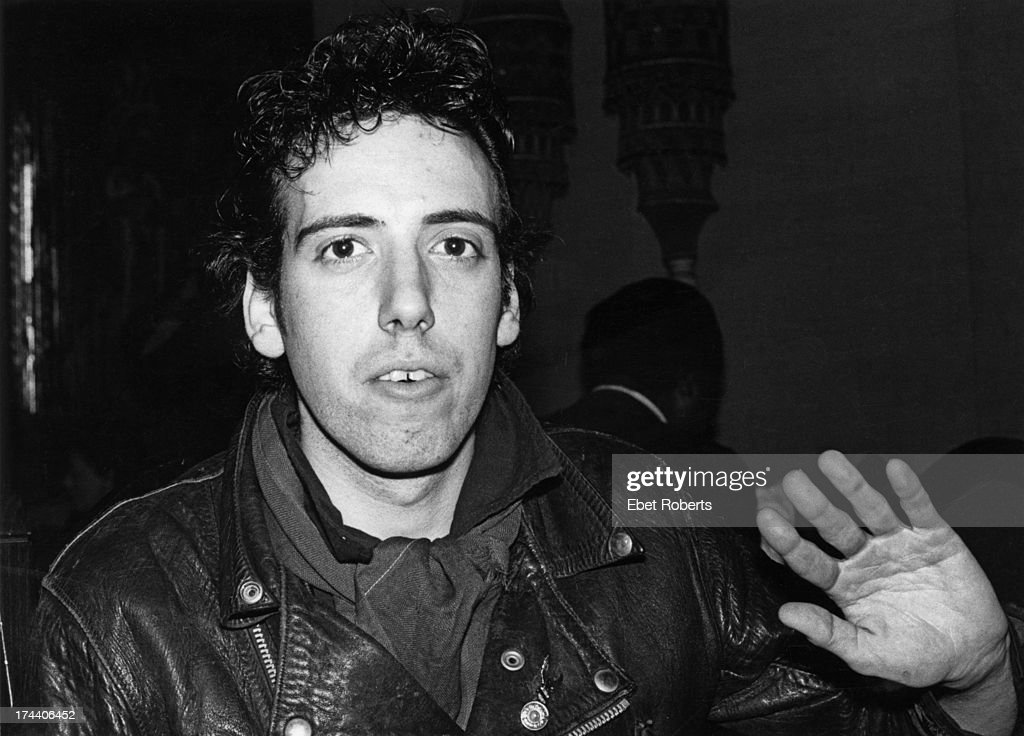 Guitarist <a gi-track='captionPersonalityLinkClicked' href=/galleries/search?phrase=Mick+Jones+-+Musician+-+The+Clash&family=editorial&specificpeople=212985 ng-click='$event.stopPropagation()'>Mick Jones</a>, of English punk group The Clash, 1979.