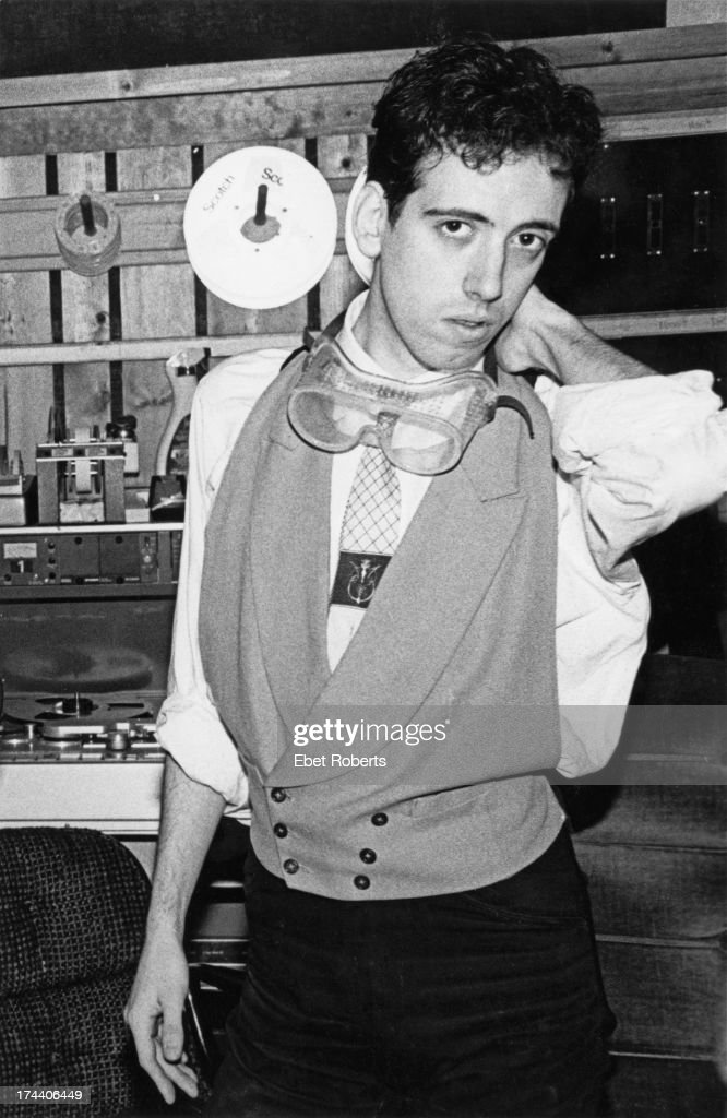 Guitarist <a gi-track='captionPersonalityLinkClicked' href=/galleries/search?phrase=Mick+Jones+-+Musician+-+The+Clash&family=editorial&specificpeople=212985 ng-click='$event.stopPropagation()'>Mick Jones</a>, of English punk group The Clash, in a recording studio, 1981.