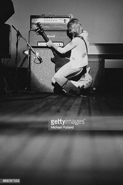 Guitarist Mick Ronson performing with The Hunter Ronson Band at the Colston Hall in Bristol 1st April 1975