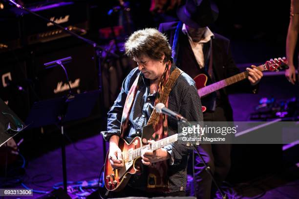 Guitarist Mick Taylor performing live on stage as part of the 'Evening For Jack Bruce' tribute concert at the O2 Shepherd's Bush Empire in London on...