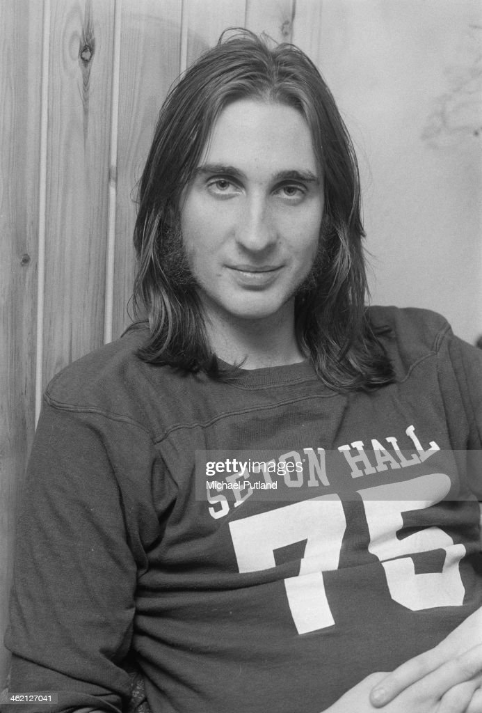 Guitarist Mike Rutherford of British progressive rock group Genesis, January 1974.
