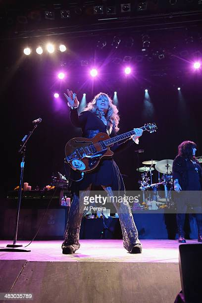 Guitarist Nancy Wilson and Heart performs at Bergen Performing Arts Center on April 5 2014 in Englewood New Jersey