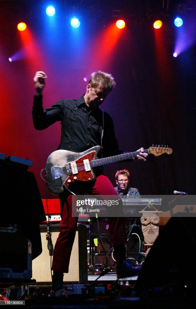 Guitarist Nels Cline of Wilco performs in concert at KeySpan Park on July 13, 2009 in Brooklyn, New York.