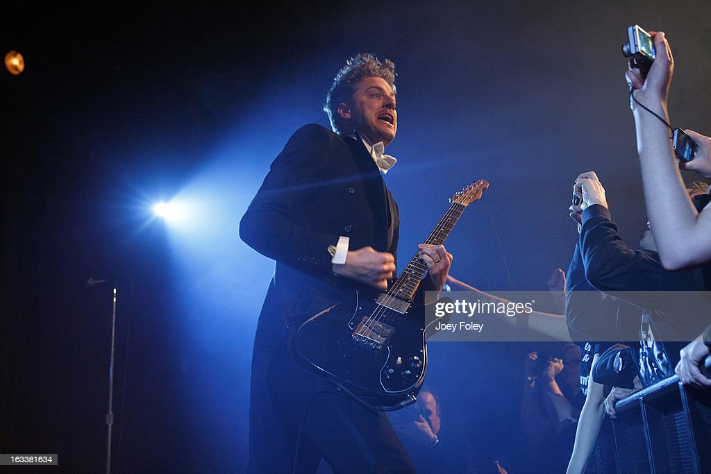 Guitarist Nicholaus Arson of The Hives performs onstage at The Vogue on March 4, 2013 in Indianapolis, Indiana.