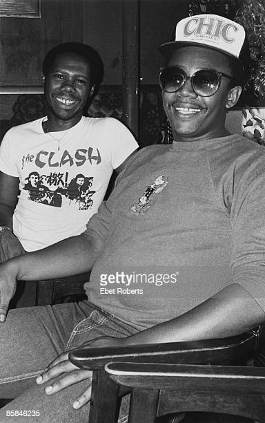 Guitarist Nile Rodgers and bassist Bernard Edwards of American funk and disco band Chic New York City USA 1980