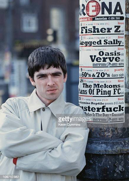 Guitarist Noel Gallagher of British pop group Oasis Amsterdam February 1994