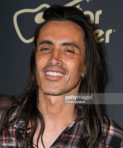 Guitarist Nuno Bettencourt attends the Slash Featuring Myles Kennedy and The Conspirators 'Live From The Roxy' black carpet at The Roxy Theatre on...
