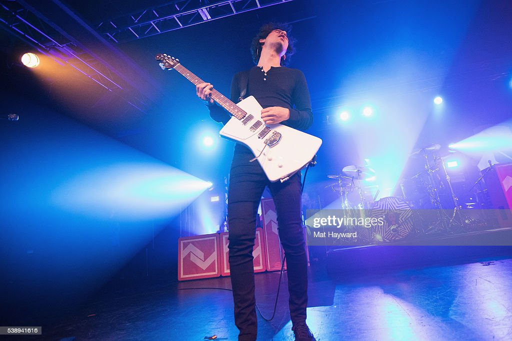Guitarist Omar Rodriguez Lopez of At The Drive In performs onstage at Showbox SoDo on June 8, 2016 in Seattle, Washington.