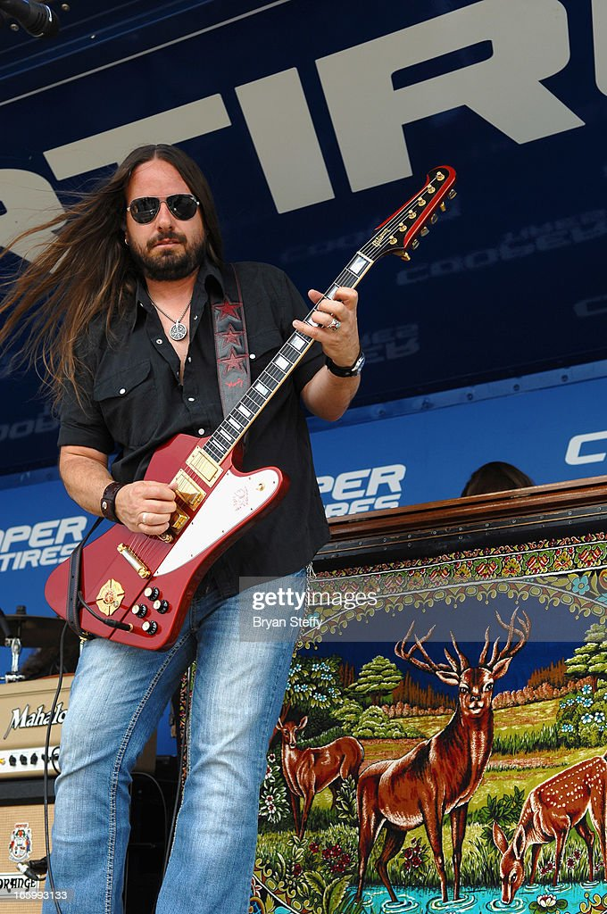 Guitarist Paul Jackson of Blackberry Smoke performs during the 48th Annual Academy Of Country Music Awards Experience at the Orleans Arena on April 7, 2013 in Las Vegas, Nevada.