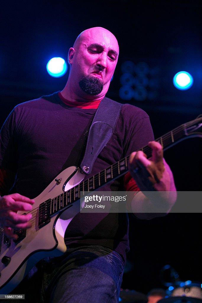 Guitarist Paul Noia of Livid performs in concert at Bogart's on December 15, 2012 in Cincinnati, Ohio.